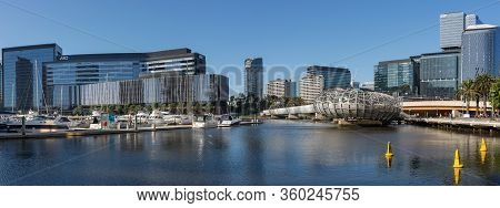 Melbourne, Australia - December 4: Panorama Of The South Melbourne On December 4, 2018 In Melbourne,