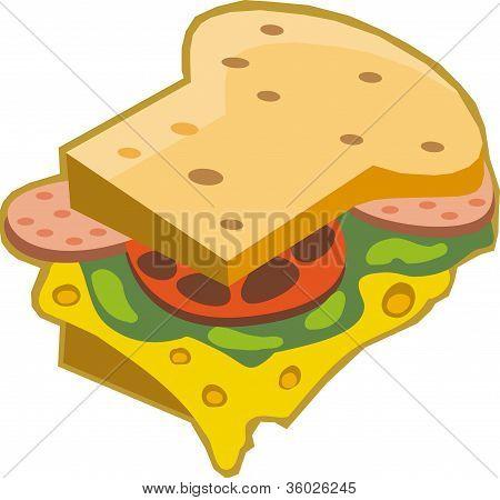 Illustration Of A Sandwich