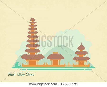Indonesia Landmark Ulun Danu Temple In Bali
