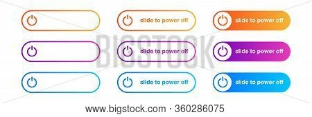 Switch Toggle Button On Off Gradient . Vector Isolated Icon. Gradient Web Ui Design. Power Switch Ic