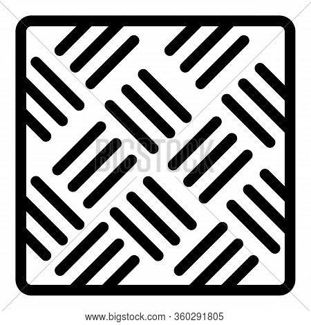 Asphalt Paving Icon. Outline Asphalt Paving Vector Icon For Web Design Isolated On White Background