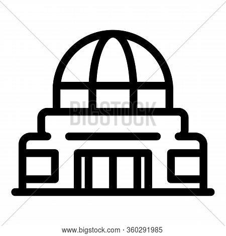 Astronomy Planetarium Icon. Outline Astronomy Planetarium Vector Icon For Web Design Isolated On Whi