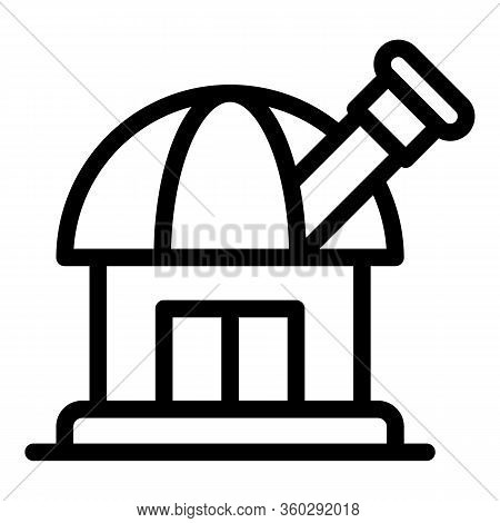 Discover Space Observatory Icon. Outline Discover Space Observatory Vector Icon For Web Design Isola