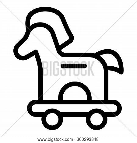 Virus Trojan Horse Icon. Outline Virus Trojan Horse Vector Icon For Web Design Isolated On White Bac