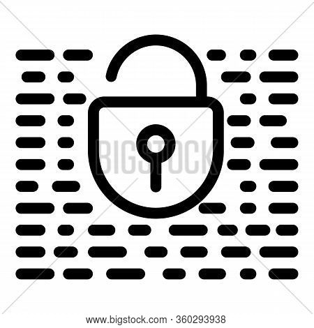 Unlocked Fraud Security Icon. Outline Unlocked Fraud Security Vector Icon For Web Design Isolated On
