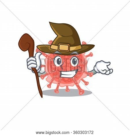 Oncovirus Sneaky And Tricky Witch Cartoon Character