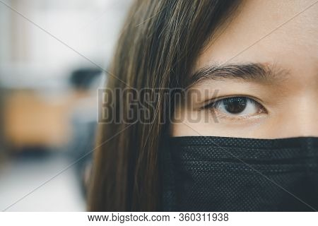 Woman Wearing Mask Protection Epidemic Flu Covid19