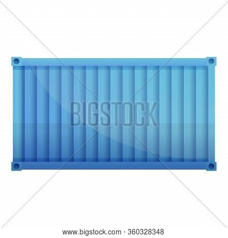 Export Cargo Container Icon. Cartoon Of Export Cargo Container Vector Icon For Web Design Isolated O