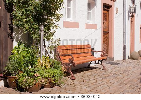 Romantic Bench In The Sun
