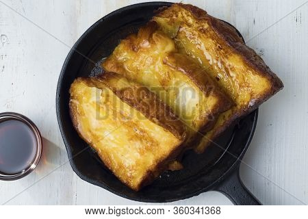 Close Up Of Rustic French Toast Breakfast Comfort Food