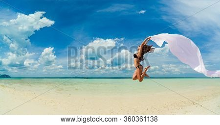 Beautiful Woman at the beach in Thailand
