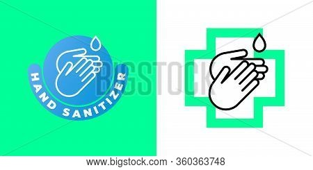 Sanitizer Hand Gel Vector Icon, Antibacterial Wet Towels And Disinfection Antiseptic And Antiviral H