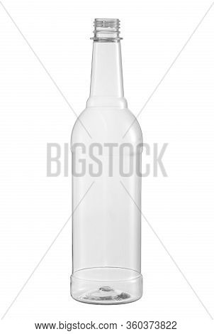 Plastic Bottle For Beverage (with Clipping Path) Isolated On White Background