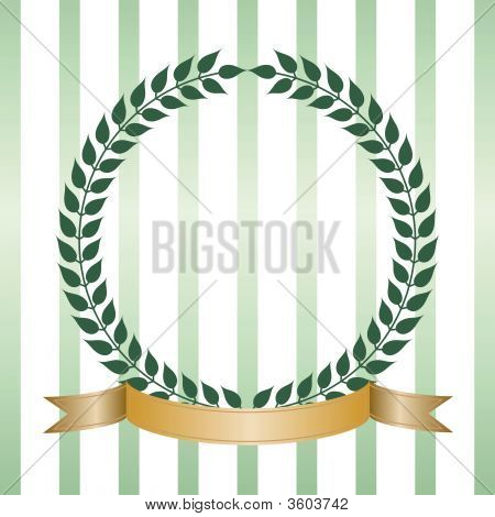 Green Laurel Wreath With Banner