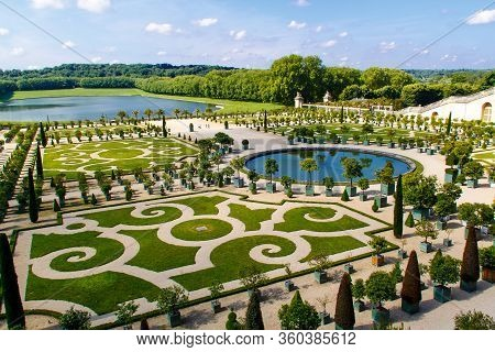 Versailles, Yvelines, Ile-de-france, France - June 3, 2018: Gardens Of Versailles Apollo Fountain. V