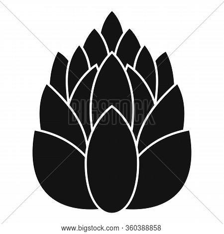 Coniferous Pine Cone Icon. Simple Illustration Of Coniferous Pine Cone Vector Icon For Web Design Is