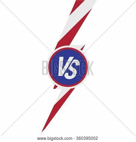 Presidential Debate. Versus Vs Letters. The Us Presidential Election 2020. American Flag Colors. Vec