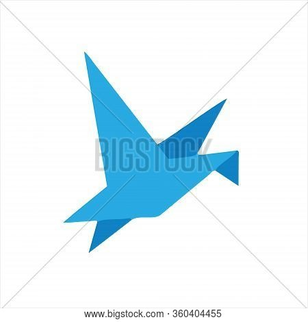 Origami Bird Icon Vector In Modern Flat Style For Web, Graphic And Mobile Design. Origami Bird Icon