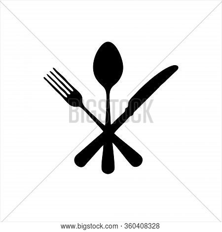 Plate, Fork And Knife Line Icon Concept. Plate, Fork And Knife Vector Linear Illustration, Symbol, S