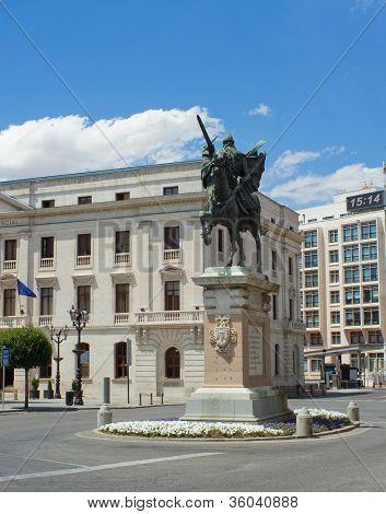 Statue Of El Cid, Burgos. Spain