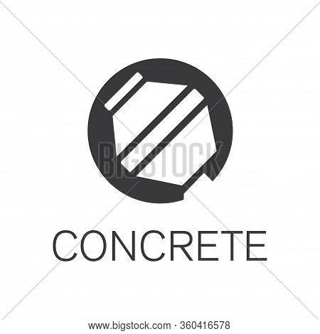 Vector Logo Of Concrete And Concrete Blocks