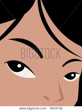 Girls Eyes Beutifull Background Wallpaper
