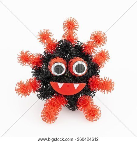 View Of Coronavirus Concept On White Background