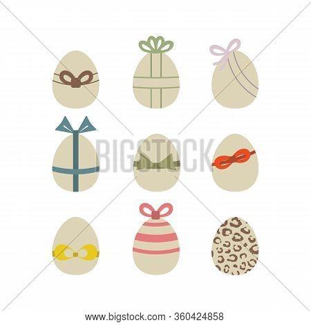 Easter Egg Icon Set Vector Illustration Isolated On A White Background .easter Element Design.tradit