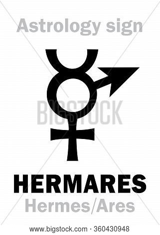 Astrology Alphabet: Hermares (hermes+ares), Local Ancient Greek Sacral Dual Deity Of Cunning And Agg