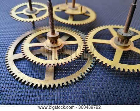 Old clock cogs and gears