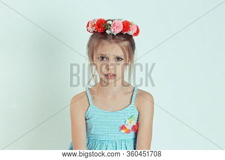Closeup Portrait Angry Young Girl About To Have Nervous Atomic Breakdown Displeased Isolated White W