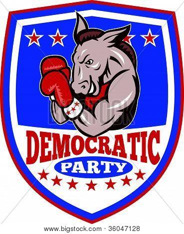 Democrat Donkey Mascot Shield