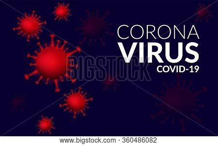 Research Of Novel Respiratory Coronavirus 2019-ncov. Vector Illustration