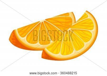 Sliced And Unpeeled Mandarin Or Tangerine Fruit Isolated On White Background Vector Illustration