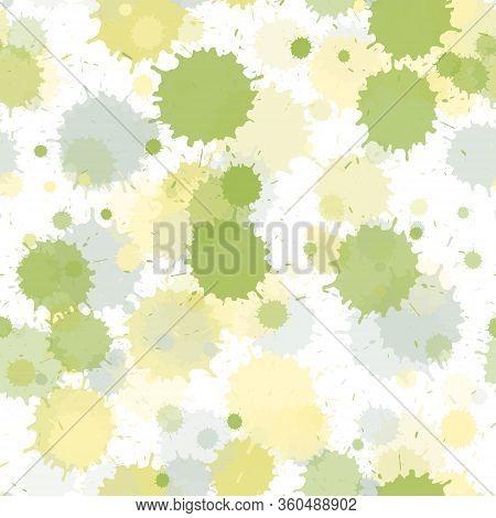 Graffiti Spray Transparent Stains Vector Seamless Wallpaper Pattern. Hipster Ink Splatter, Spray Blo