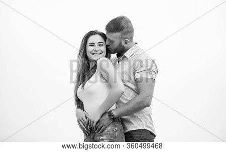 Love You Tender. Family Values. Man And Woman Embrace. Romantic Relationship. Love Date. Valentines