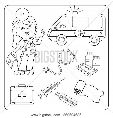 - Coloring Page Outline Vector & Photo (Free Trial) Bigstock