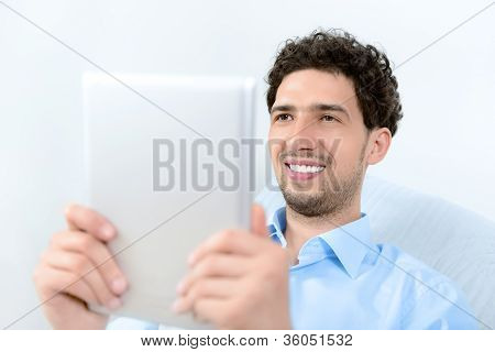 Man With Apple Ipad