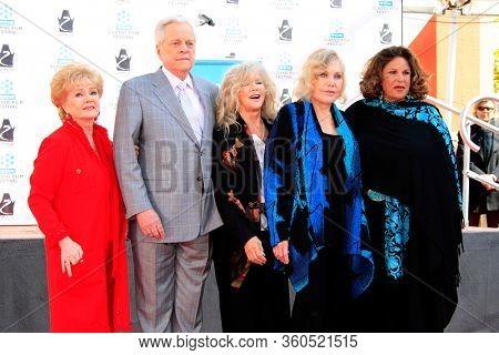 LOS ANGELES - APR 4:  Debbie Reynolds, Jeffrey Osbourne, Connie Stevens, Kim Novak, Laine Kazan at the Kim Novak Print Ceremony at the Chinese Theatre on April 4, 2012 in Los Angeles, CA