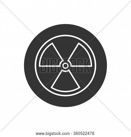 Black Radioactive Line Icon Isolated On White Background. Radioactive Toxic Symbol. Radiation Hazard