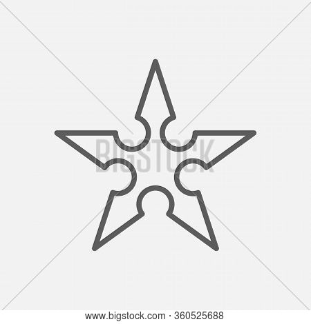 Ninja Star Icon Line Symbol. Isolated Vector Illustration Of Icon Sign Concept For Your Web Site Mob