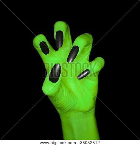 Witch's green hand