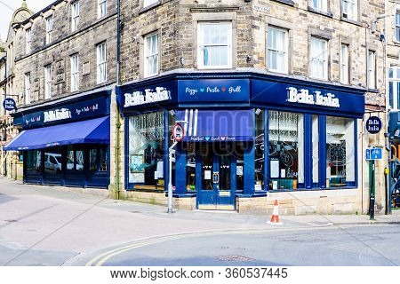 United Kingdom, Lancaster - 9th April 2020 Bela Italia Cafe Closed For Lockdown
