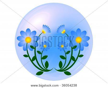 Blue flower ball