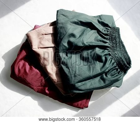 Fashion Pant Of Color Three Shadow Background.