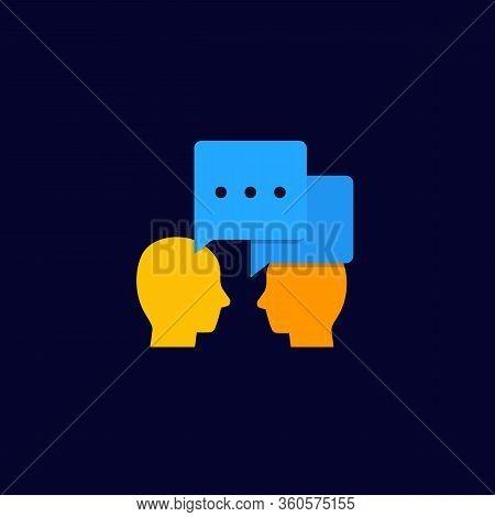 Debate, Dialogue Vector Icon, Eps 10 File, Easy To Edit