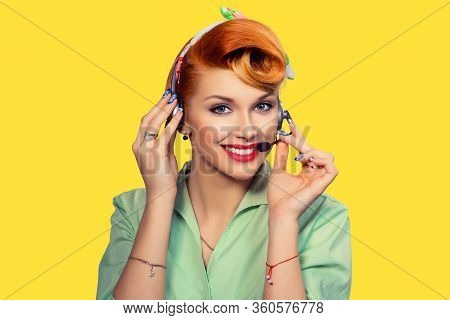 Girl With Headset, Customer Service