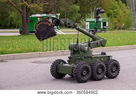 Arlamow, Poland - May, 2019: Robot Ibis, Used For Pyrotechnic Operations And Reconnaissance In Dispo