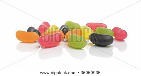 Jelly Beans Isolated On White Background