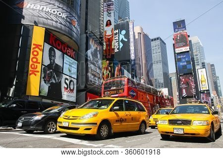 Times Square In New York City Usa